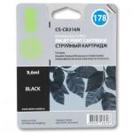 Картридж струйный Cactus CS-CB316HE №178, черный, 6 мл