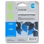 Картридж струйный Cactus CS-CB318HE №178, 6 мл, голубой
