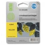 Картридж струйный Cactus CS-CB320HE №178, 6 мл, желтый