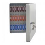 Шкафчик для ключей Промет KB-50 на 50 ключей, ключевой замок, с брелоками, 300х230х90мм