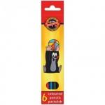 Набор цветных карандашей Koh-I-Noor Крот, 6 цветов