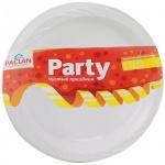Тарелка одноразовая Paclan Party белая, d=17см, 12шт/уп