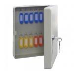 Шкафчик для ключей Промет KB-20 на 20 ключей, ключевой замок, с брелоками, 250х180х80мм
