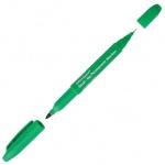 Маркер перманентный Office Space, 0.8-2мм, пулевидный наконечник, двухсторонний, зеленый