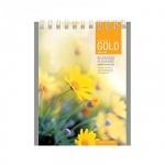 Блокнот Office Space Полевые цветы, А6, 60 листов, в клетку, на спирали, мелованный картон