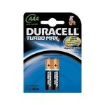 Батарейка Duracell Turbo Max AAA/LR03, 1.5В, алкалиновая, 2шт/уп
