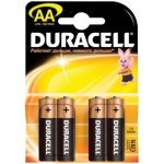 Батарейка Duracell Basic AA/LR6, 1.5В, алкалиновые, 4шт/уп