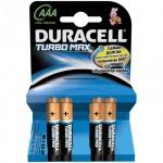 Батарейка Duracell Turbo Max AAA/LR03, 1.5В, алкалиновая, 4шт/уп