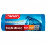 Мешки для мусора Paclan Big &Strong 160л, синие, 21мкм, 10шт/уп