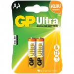 Батарейка Gp Ultra Alkaline AA/LR6, 1.5В, алкалиновые, 2шт/уп