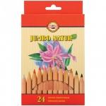 Набор цветных карандашей Koh-I-Noor Jumbo Natur, 24 цвета