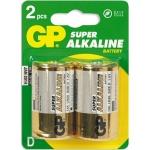 ��������� Gp Super Alkaline D/LR20, 1.5�, �����������, 2��/��