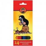 Набор цветных карандашей Koh-I-Noor Крот, 24 цвета