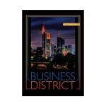 Блокнот Office Space Офис Business District, А5, 60 листов, в клетку, на спирали, мелованный картон, твердая обложка