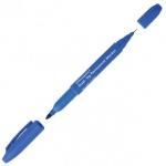 Маркер перманентный Office Space, 0.8-2мм, пулевидный наконечник, двухсторонний, синий