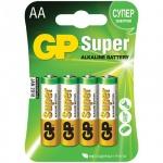 ��������� Gp Super Alkaline AA/LR6, 1.5�, �����������, 4��/��