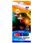 Набор цветных карандашей Koh-I-Noor Космическая одиссея 24 цвета, 3654
