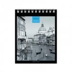 Блокнот Office Space Black&White, А6, 80 листов, в клетку, на спирали, мелованный картон
