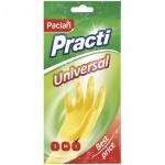Перчатки резиновые Paclan Universal, желтые