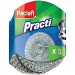 Губка для мытья посуды Paclan Practi металлические, 3шт/уп