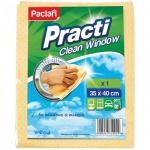 Салфетка хозяйственная Paclan Practi для стекол, 35х40см, вискоза