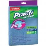 Салфетка хозяйственная Paclan Practi для кухни, 30х30см, микрофибра/ мягкий абразив