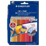 Набор акварельных карандашей Staedtler Noris Club, 36 цветов