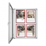 Доска-витрина Magnetoplan SP 1215300, лаковая, магнитная маркерная, алюминиевая рама, 9 х А4