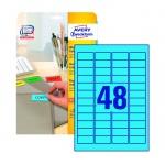 Этикетки удаляемые Avery Zweckform L6039-20, голубые, 45.7x21.2мм, 48шт на листе А4, 20 листов, 960ш
