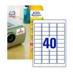 Этикетки высокостойкие Avery Zweckform TripleBond L6140-20, белые, 45.7х25.4мм, 40шт на листе А4, 20 листов, 800шт, для лазерной печати