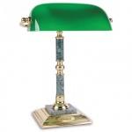 Светильник настольный Delucci зеленый мрамор