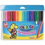 Фломастеры Carioca Joy 24 цвета, смываемые, пластиковая упаковка
