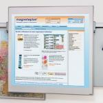 Экран для проектора настенный Magnetoplan 1241715, 150х150см, системная рамка
