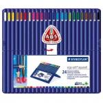 Набор акварельных карандашей Staedtler Ergosoft Aquarell 24 цвета, 156SB24