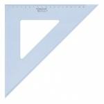 Угольник Staedtler Mars 567, 45°/45°, прозрачный голубой, 31 см