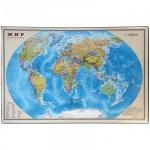 Коврик настольный для письма Office Space 38x59см, карта мира