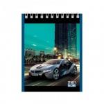 Блокнот Office Space Авто Street racing, А6, 40 листов, в клетку, на спирали, мелованный картон