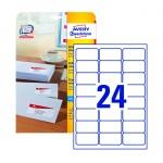 Этикетки адресные Avery Zweckform J8159-25, белые, 63.5 x 33.9мм, 24шт на листе А4, 25 листов, 600шт, для струйной печати