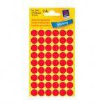 Этикетки маркеры Avery Zweckform, d=12мм, 54шт на листе А4, 5 листов, 270шт