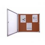 Доска-витрина Magnetoplan SP 1215124 87х75см, пробковая, коричневая, интерьерная, алюминиевая рама