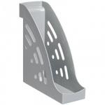 Накопитель вертикальный для бумаг Стамм Торнадо А4, 95мм, серый, ЛТ400