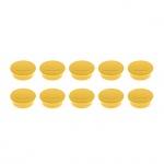 Магниты Magnetoplan Standart, d=30х8мм, жёлтые, 10шт
