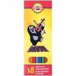 Набор цветных карандашей Koh-I-Noor Крот, 18