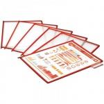 Панель для демосистем Berlingo А4, красная, антибликовая