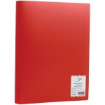Папка пластиковая с зажимом Office Space красная, А4, 14мм, FC3_312