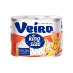 Туалетная бумага Veiro KingSize без аромата, белая, 2 слоя, 4 рулона, 37.5м