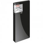 Визитница Berlingo на 128 визиток, черная, 110х250мм, пластик