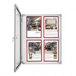 Доска-витрина Magnetoplan SP 1215300, лаковая, магнитная маркерная, алюминиевая рама