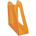 Накопитель вертикальный для бумаг Стамм Фаворит А4, 90мм, манго, ЛТ716
