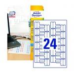 �������� ��� ������� � �������� Avery Zweckform J8950-10, �����, 60�40��, 24�� �� ����� �4, 10 ������, 240��, ��� �������� ������